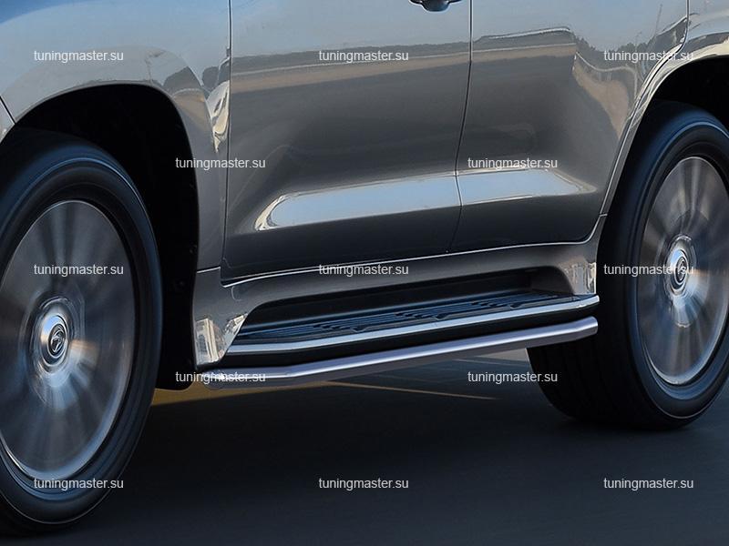 Защита штатных порогов Lexus LX 570 Ø42