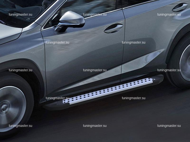 Пороги алюминиевые Lexus NX (Style BMW)