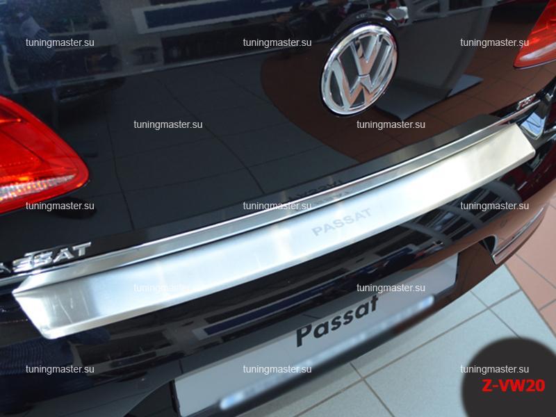 Накладка на задний бампер Volkswagen Passat B7 с загибом