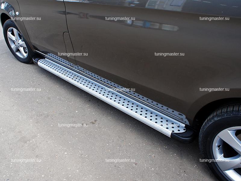 Пороги алюминиевые Mercedes Vito W639 (Standart Silver)