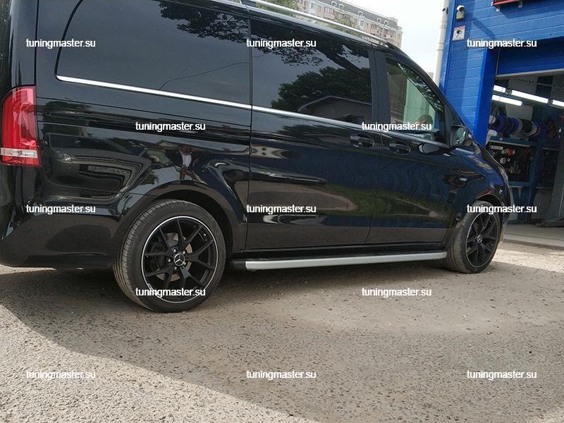 Пороги алюминиевые Mercedes Vito W447 (Alyans)