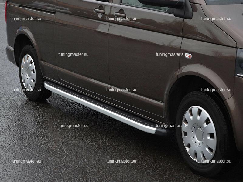 Пороги алюминиевые Volkswagen Transporter (Alyans)