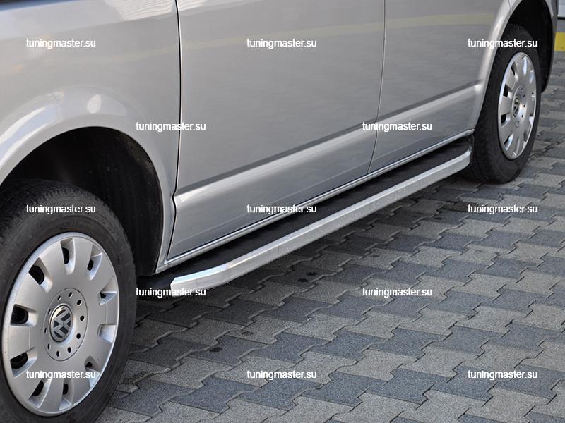 Пороги алюминиевые Volkswagen Multivan (Alyans)