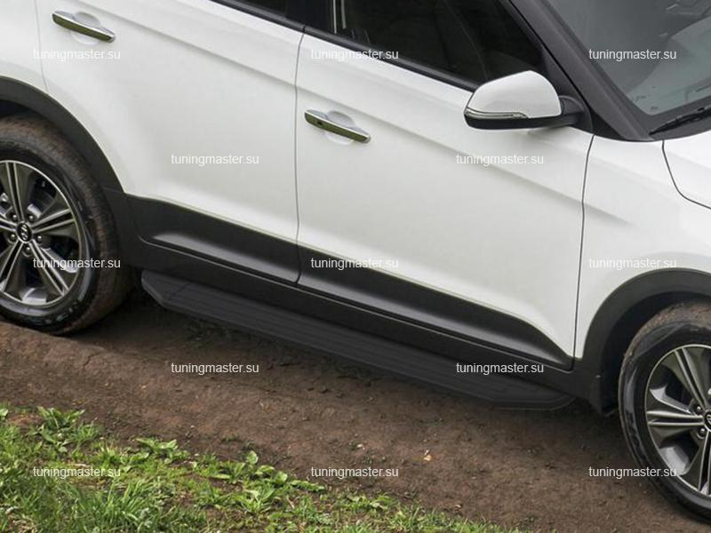 Пороги Hyundai Creta (Black)