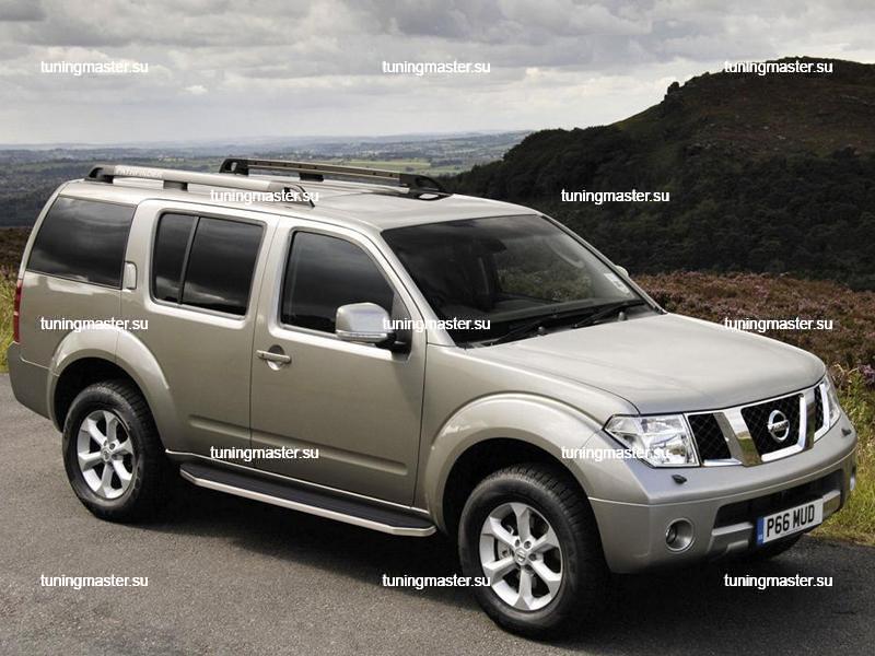 Пороги Nissan Pathfinder (Black)