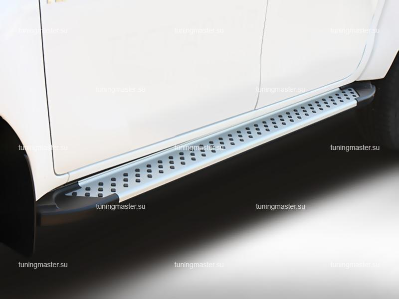 Пороги Ssang Yong Actyon алюминиевый профиль