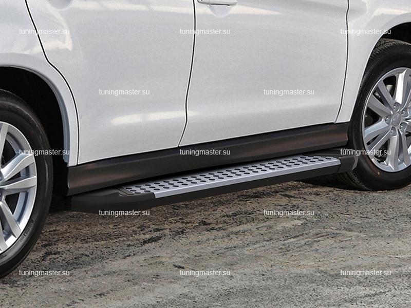 Пороги алюминиевые Mitsubishi ASX (бмв стиль)