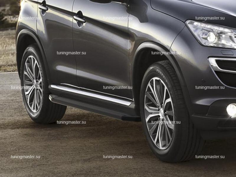Пороги Peugeot 4008 (Black)
