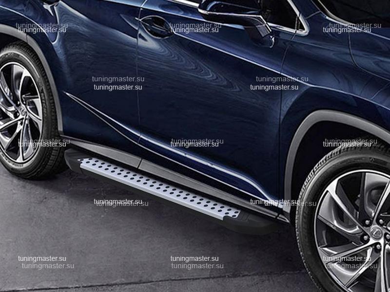 Пороги алюминиевые Lexus RX (бмв стиль)