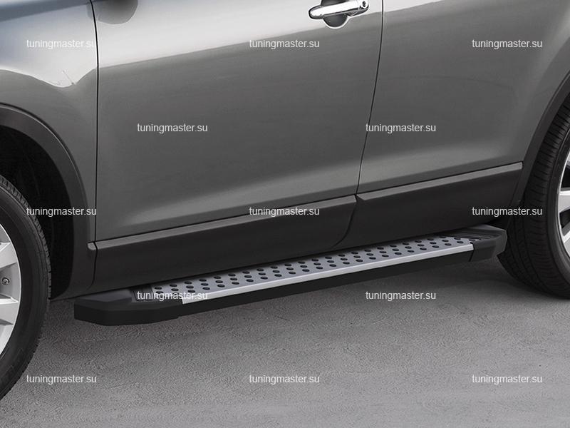 Пороги алюминиевые Honda CR-V (бмв стиль)