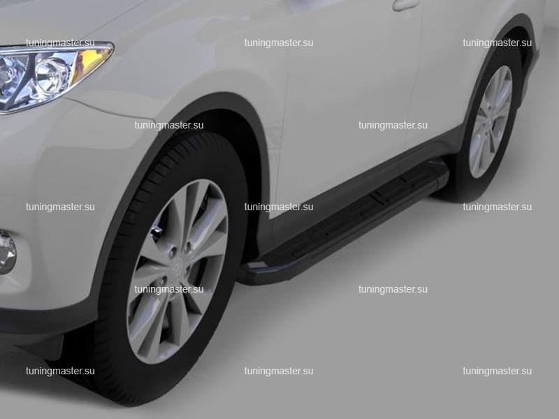 Пороги алюминиевые Toyota RAV4 (Corund Black)