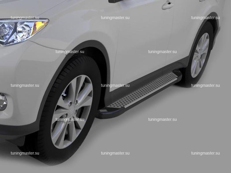Пороги алюминиевые Toyota RAV4 (Sapphire Silver)