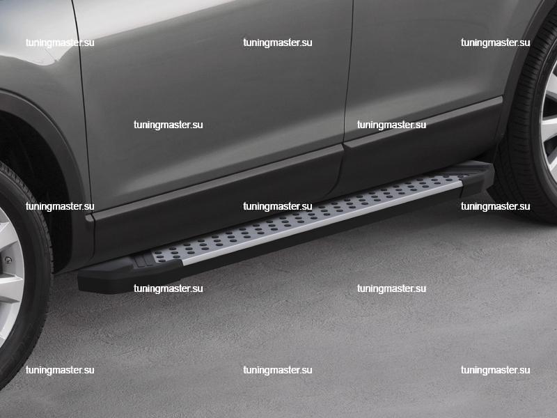 Пороги алюминиевые Audi Q3 (бмв стиль)