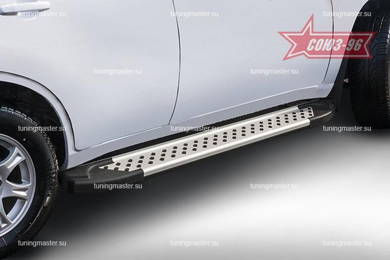 Пороги Chery Tiggo FL алюминиевый профиль