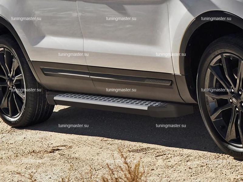Пороги алюминиевые Ford Explorer (бмв стиль)