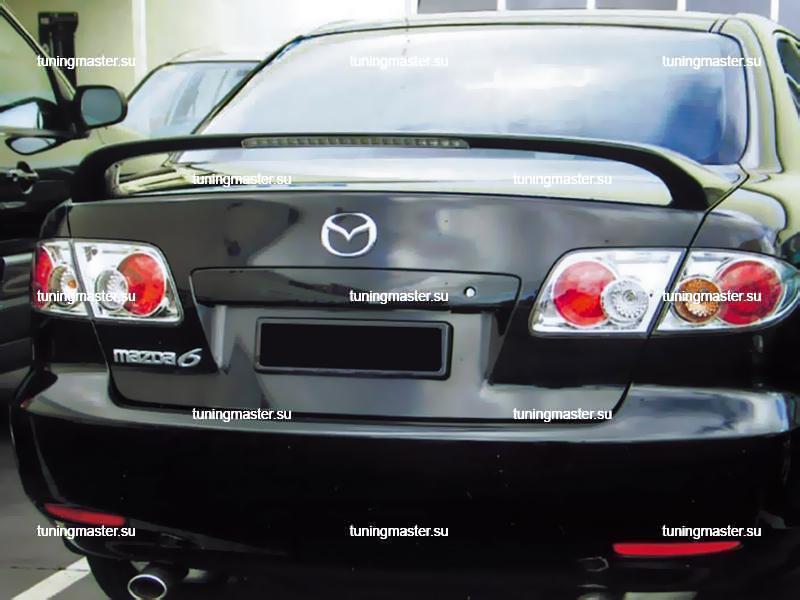 Спойлер на крышку багажника Mazda 6 со стоп сигналом