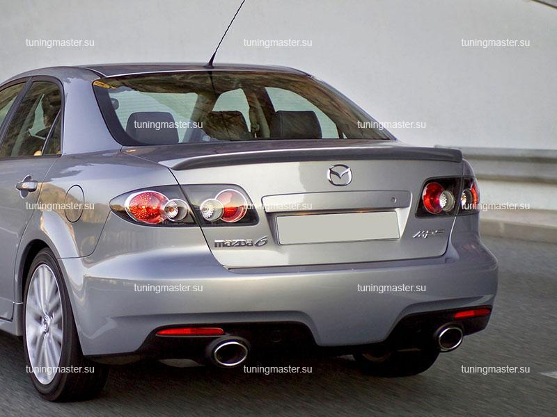 Спойлер на крышку багажника Mazda 6 (sedan)