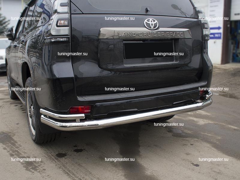 Защита заднего бампера Toyota Land Cruiser Prado 150 двойная труба Ø7642 (2)