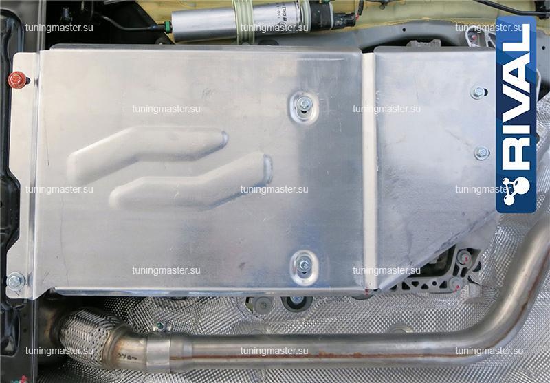 Защита КПП и РК BMW 3 F30 (алюминиевая)