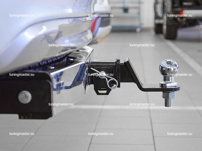 Фаркоп Mitsubishi Pajero Sport с нержавеющей накладкой (быстросъемный) 3