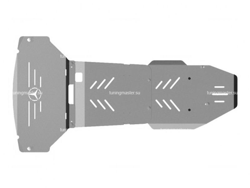 Защита картера и КПП Mercedes Benz ML W164 (алюминиевая)