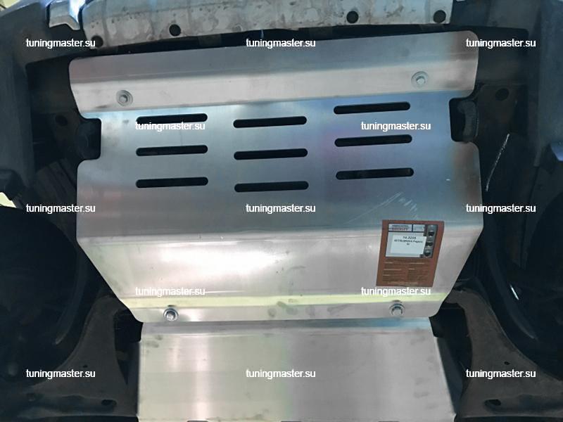 Защита картера Mitsubishi Pajero 4 (алюминиевая)