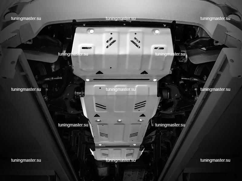 Защита картера Mitsubishi Pajero Sport 3 (алюминиевая)