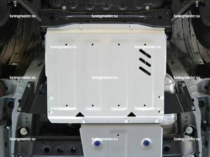 Защита коробки передач Mitsubishi Pajero 4 (алюминиевая)