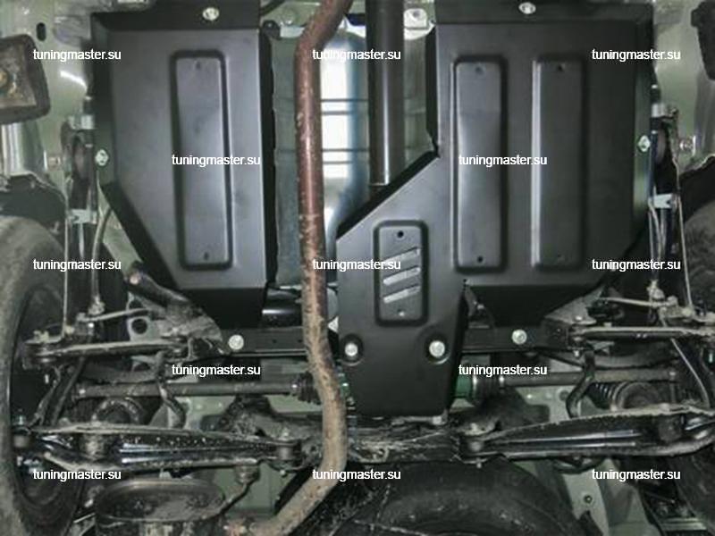 Защита топливного бака и редуктора Mitsubishi Outlander