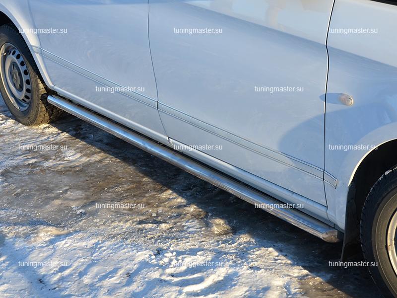 Защита штатного порога Mercedes Benz Vito W447 труба Ø60