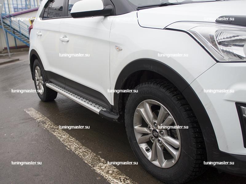 Пороги алюминиевые Hyundai Creta (Original Style)