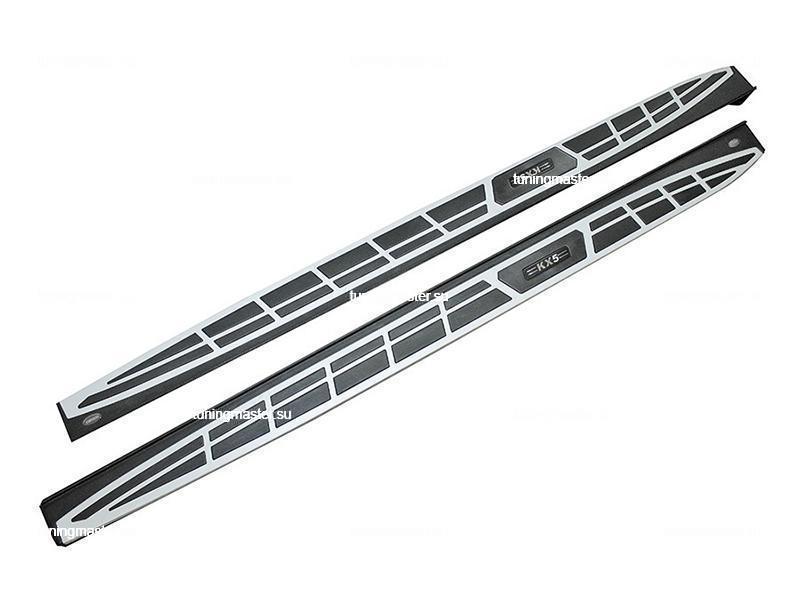 Пороги алюминиевые Kia Sportage (Original Style)