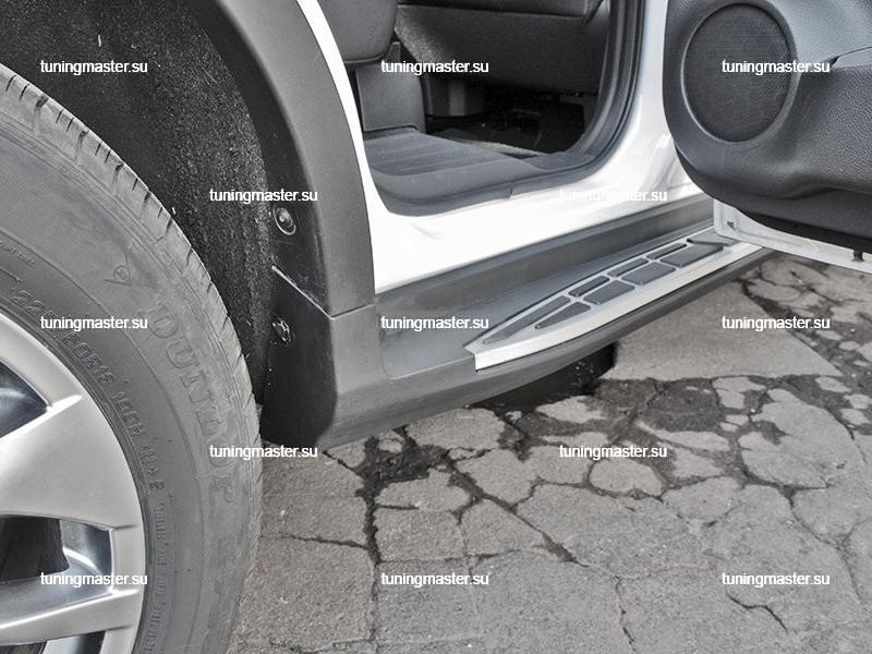 Пороги алюминиевые Nissan X-Trail T32 (Original Style)