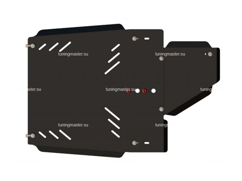 Защита КПП и РК Mitsubishi Pajero 3