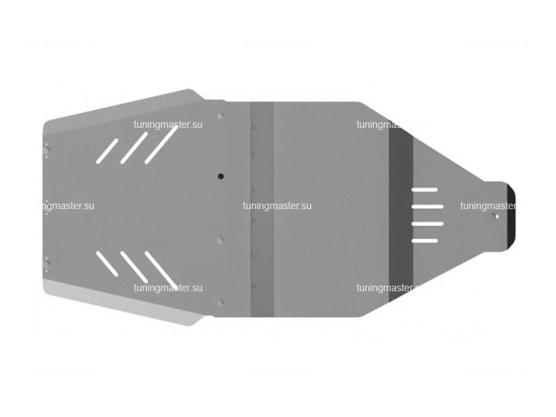 Защита КПП и РК Nissan Pathfinder (алюминиевая)