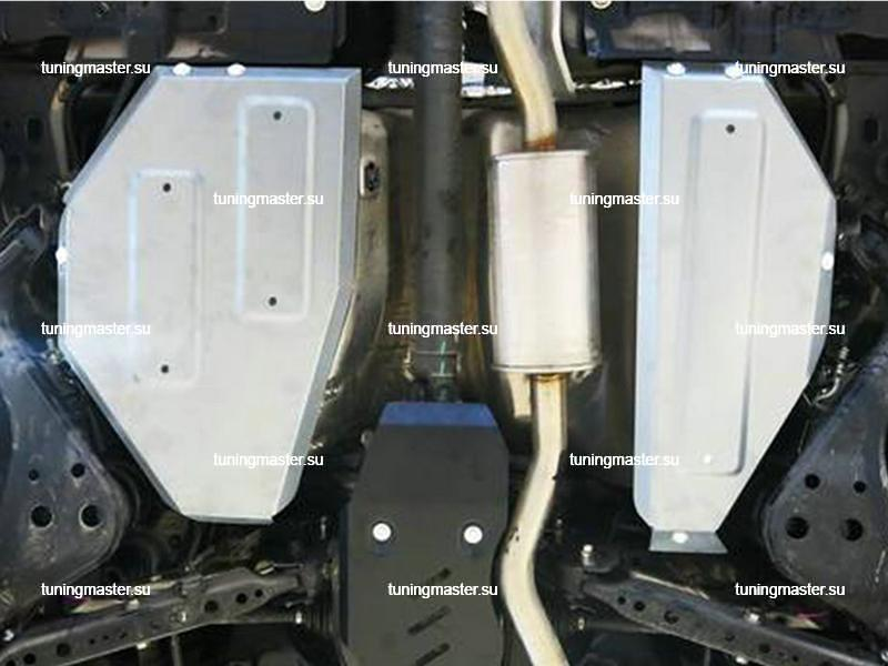 Защита топливного бака Nissan Qashqai J11 (алюминиевая)