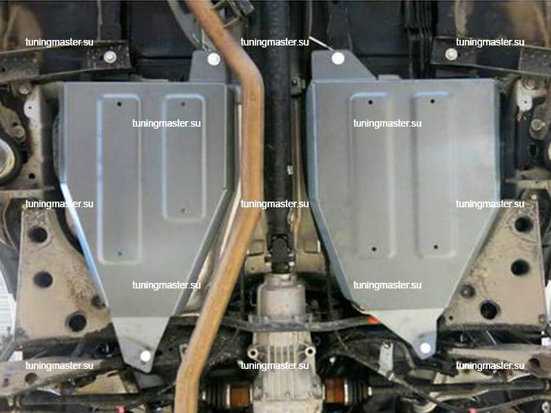 Защита топливного бака Nissan Murano Z52 (алюминиевая)