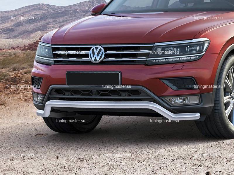 Защита переднего бампера Volkswagen Tiguan волна Ø57
