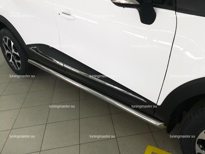 Защита порога Renault Kaptur труба Ø60
