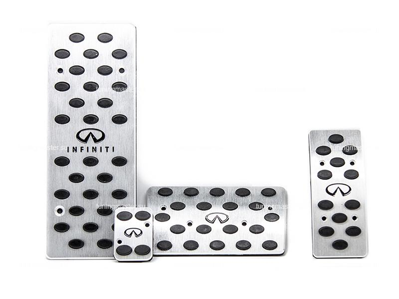 Накладки на педали Infininti QX56 с логотипом