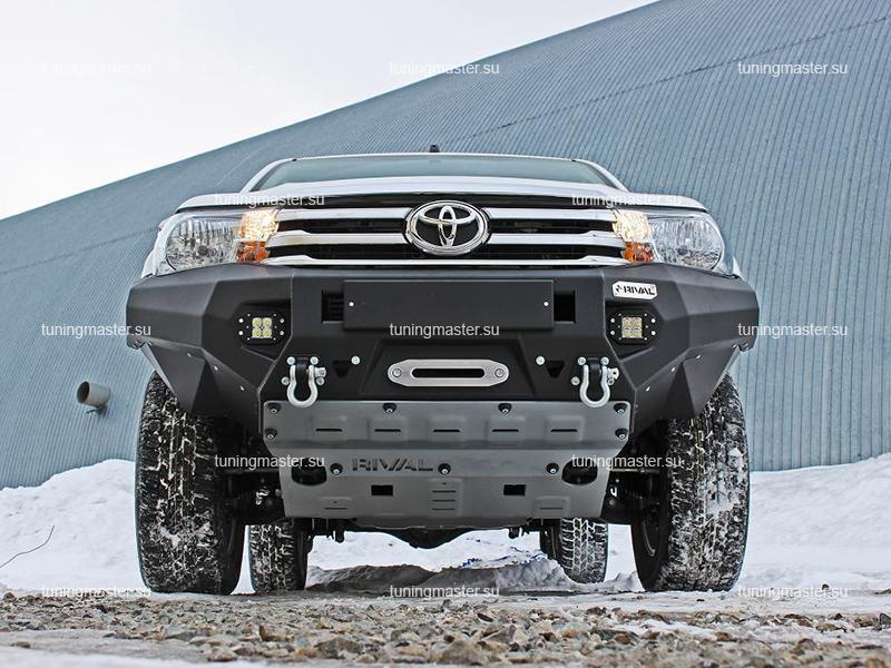 Передний силовой бампер Toyota Hilux алюминиевый