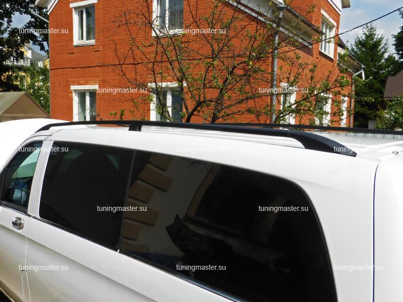 Рейлинги на крышу Mercedes Benz Vito W447 (черные)