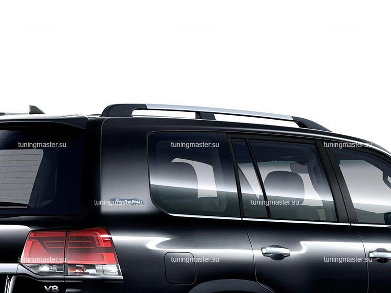 Рейлинги на крышу Toyota Land Cruiser 200 (хром)