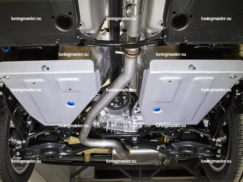 Защита топливного бака Volkswagen Tiguan (алюминиевая)