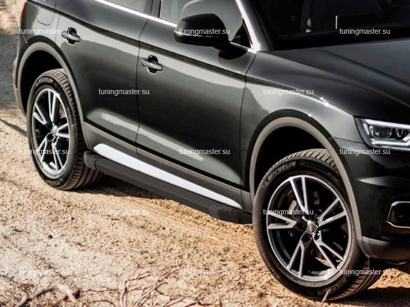 Пороги алюминиевые Audi Q5 (Black)