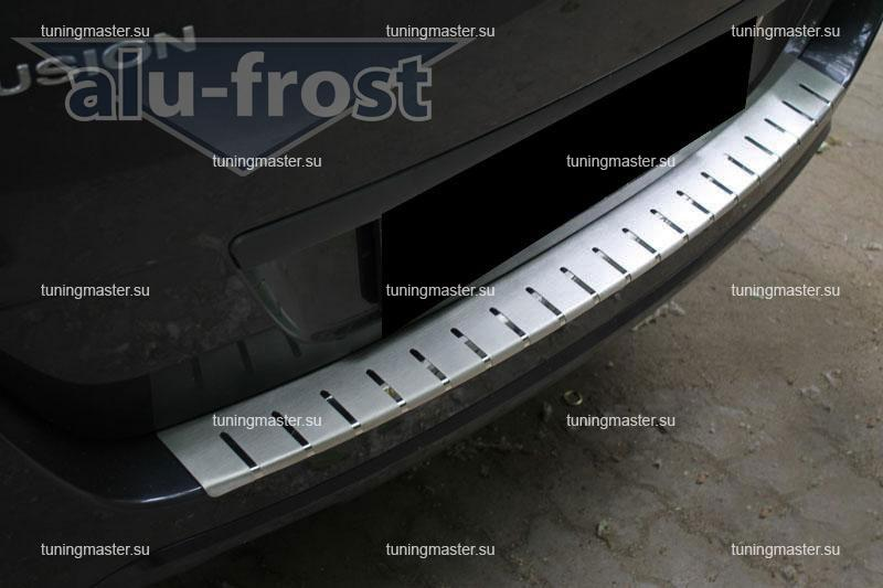 Накладка на задний бампер Ford Fusion профилированная с загибом