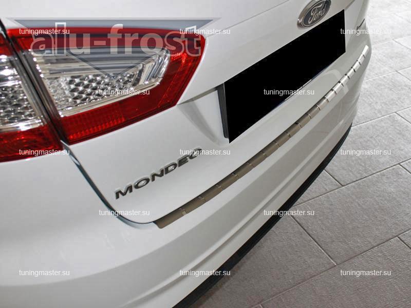 Накладка на задний бампер Ford Mondeo профилированная с загибом