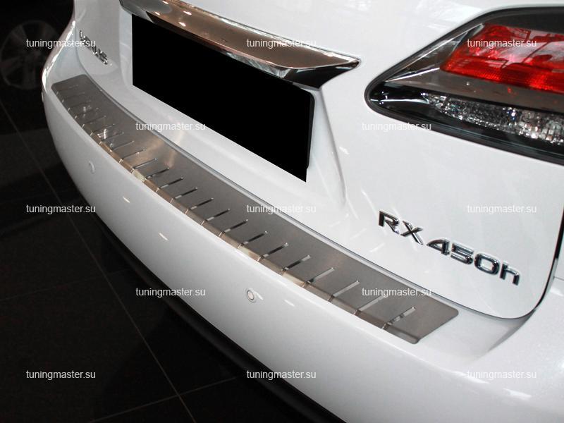 Накладка на задний бампер Lexus RX профилированная с загибом