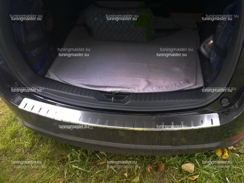 Накладка на задний бампер Mazda CX-5 профилированная с загибом
