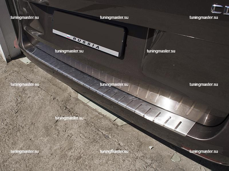 Накладка на задний бампер Mercedes Benz Vito W447 профилированная с загибом (3)